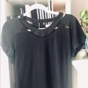 J. Crew Tops - XS JCrew Black Cotton T-shirt